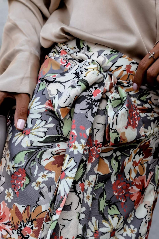 Kwiatowa kopertowa spódniczka z wiązaniem Charlie 5