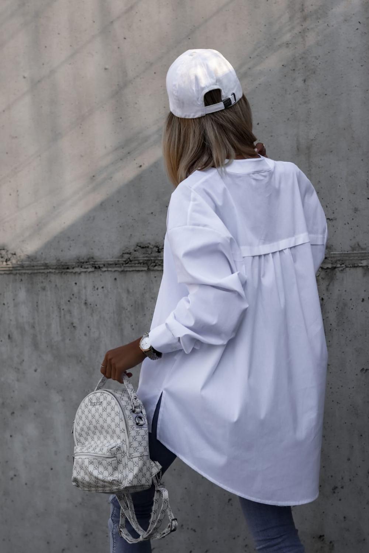 Biała rozpinana elegancka koszula oversize Emma 5