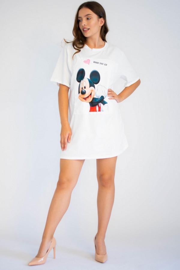 Bawełniana sukienka typu t-shirt z oryginalnym nadrukiem Mickey Mouse Lily