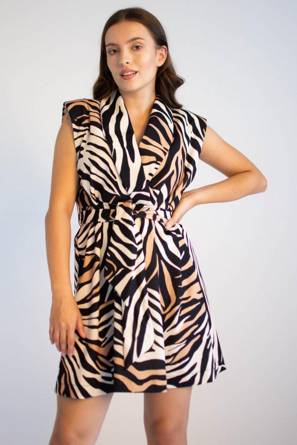 Elegancka sukienka z przekładanym dekoltem Eve