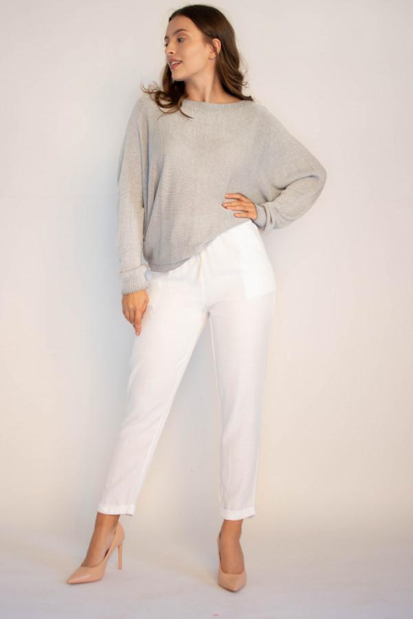 Luźne spodnie z wiązaniem Solio