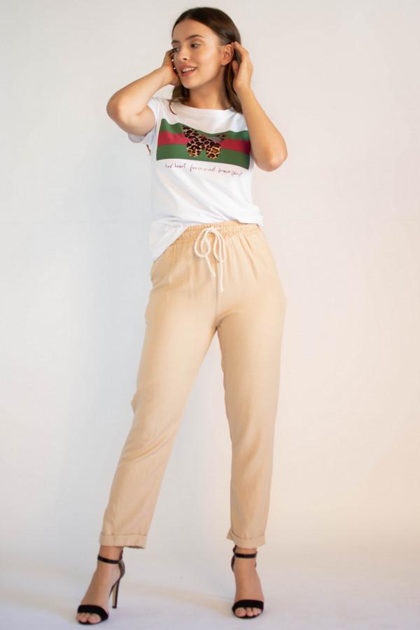 Luźne spodnie z wiązaniem Syoss