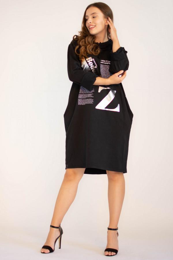 Sukienka dresowa oversize z oryginalnym nadrukiem Grace
