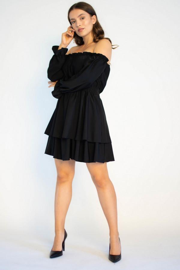 Sukienka hiszpanka z długim rękawem Aurora