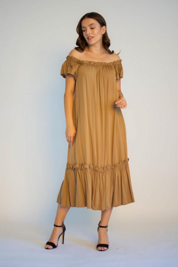 Sukienka hiszpanka z falbankami midi Catherine
