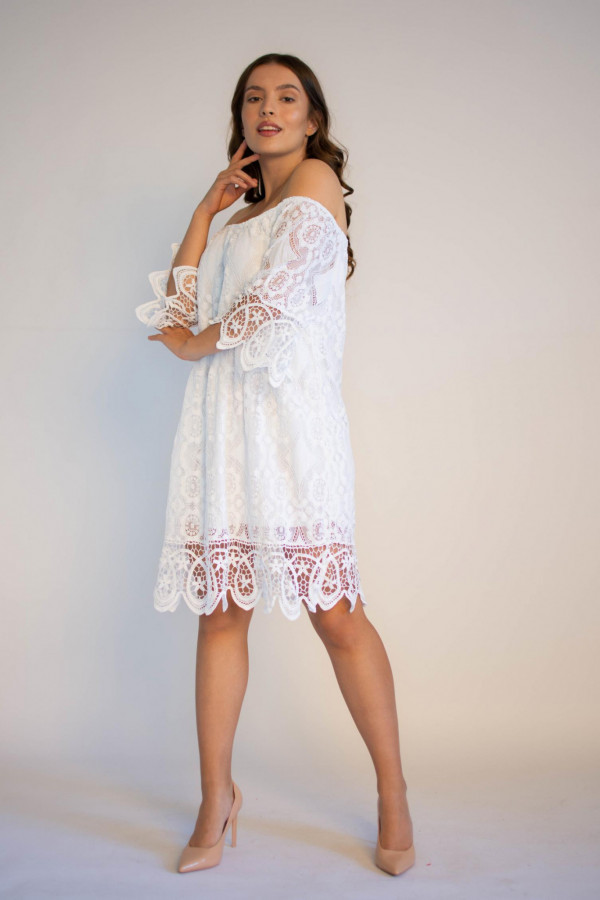 Sukienka koronkowa biała hiszpanka Alicia
