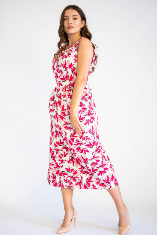 Sukienka przekładana midi kwiatowa Mias