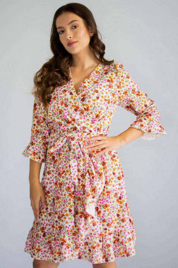 Sukienka przekładana w kwiaty Maya
