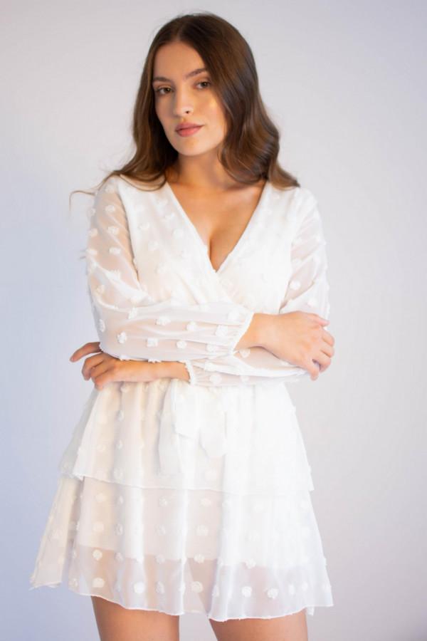 Sukienka rozkloszowana w kropki Amber