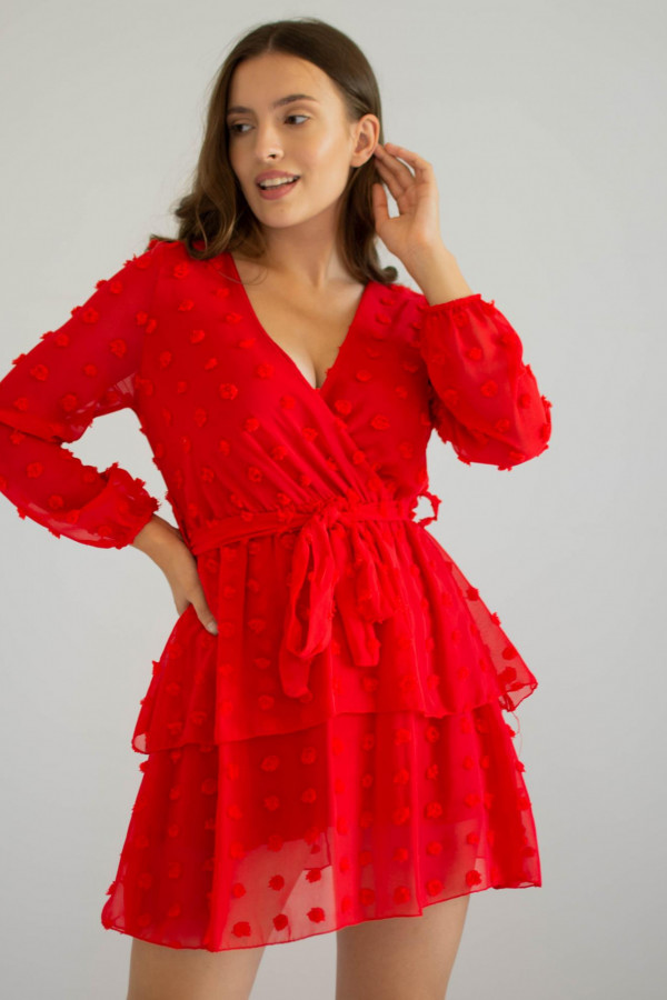 Sukienka rozkloszowana w kropki Rose