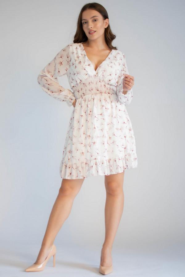 Sukienka rozkloszowana z dekoltem typu V-Neck Margaret