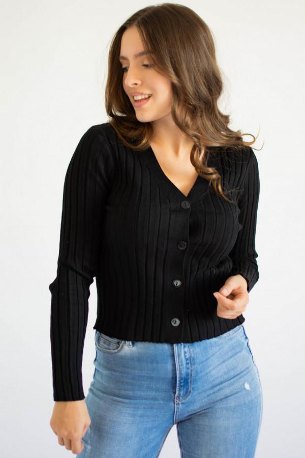 Sweter damski klasyczny z guzikami rozpinany Jane