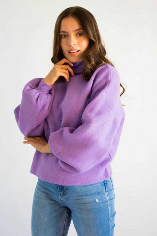 Sweter damski z golfem lilac Isabella