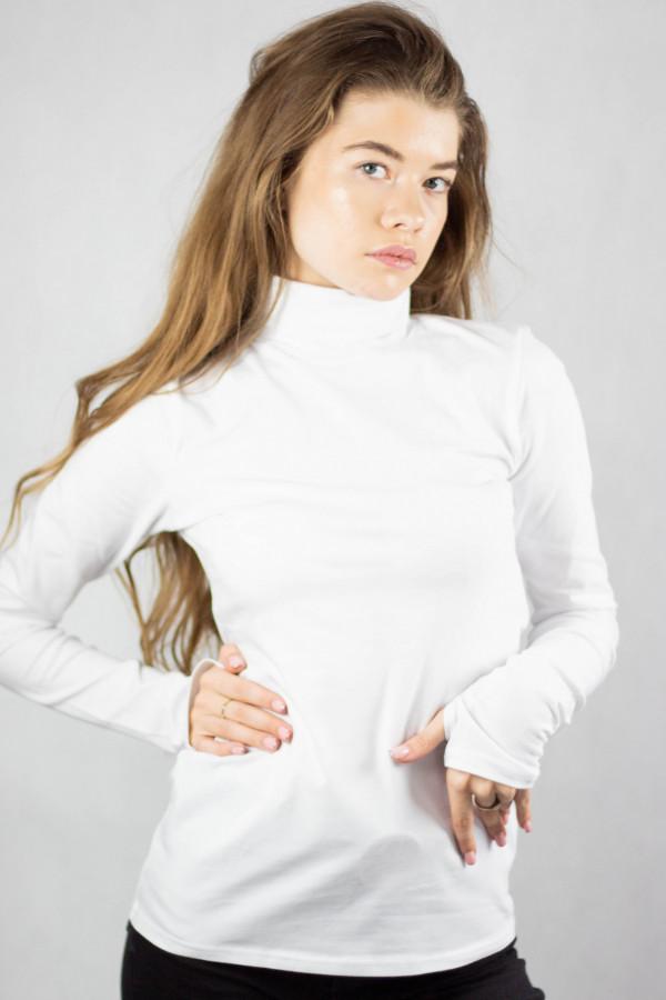 Biała bluzka z golfem Ashley