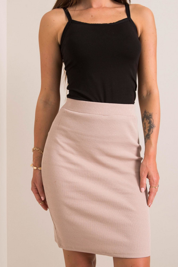 Beżowa ołówkowa spódnica damska Bresso