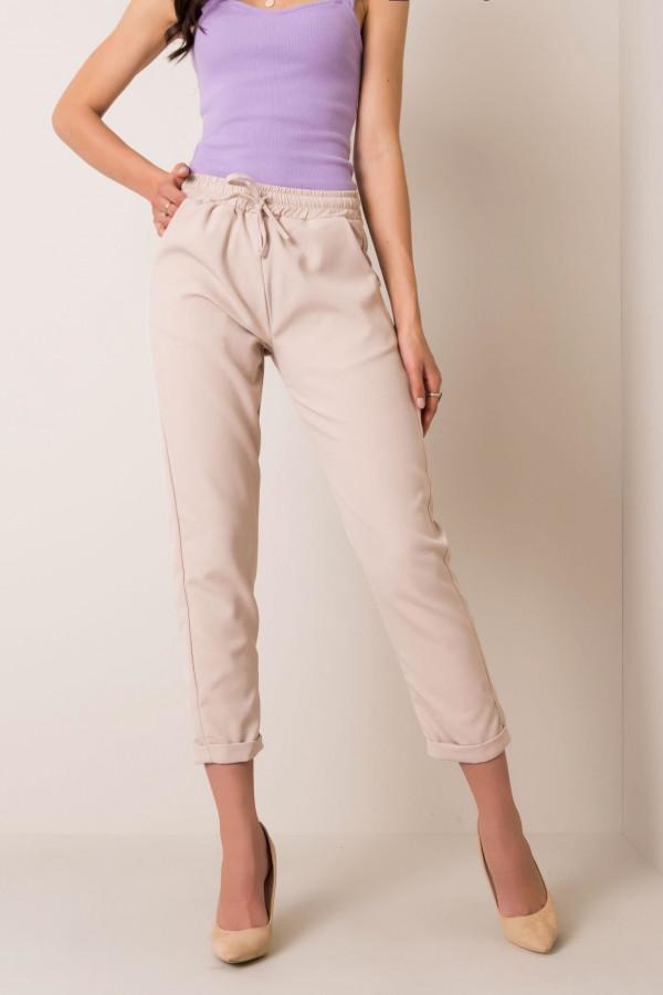 Beżowe spodnie materiałowe Evry