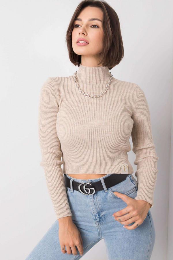 Beżowy sweter crop top Grassie