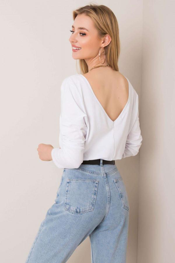 Biała bluzka z wycięciem na plecach Meaux