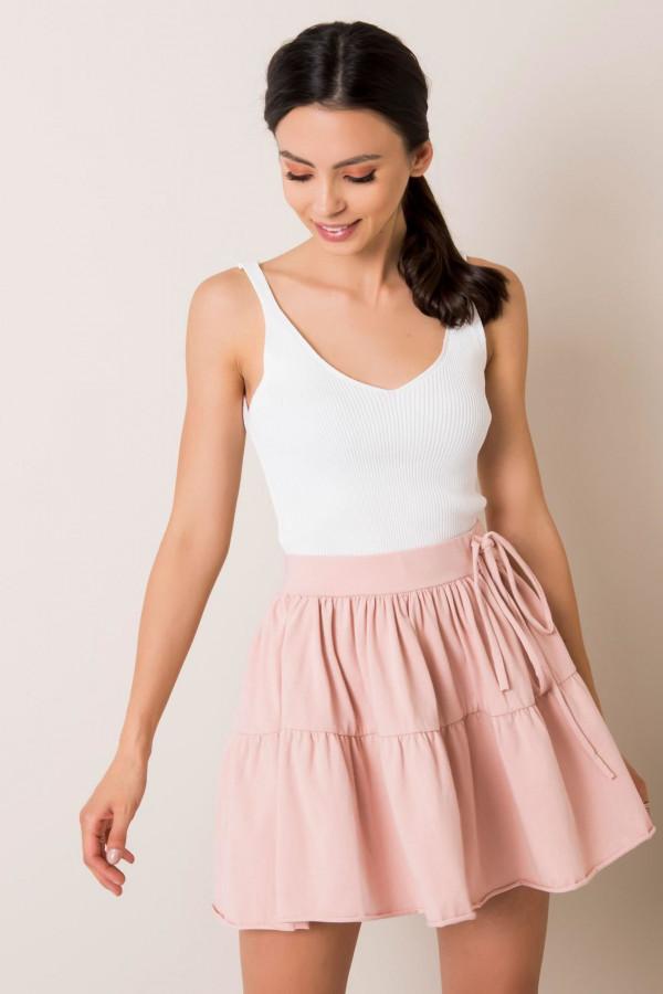 Różowa mini spódniczka rozkloszowana Sannois