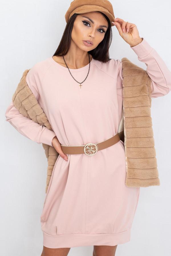 Różowa sukienka bluza Glove
