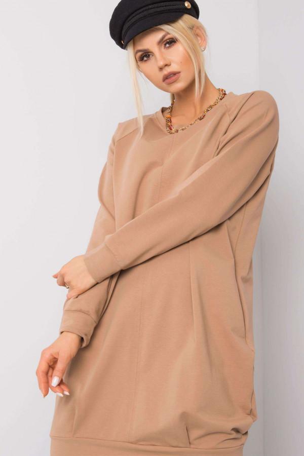 Karmelowa sukienka bluza Tours