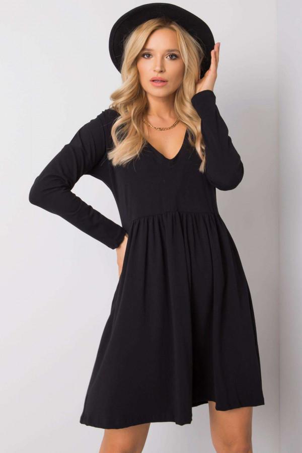Czarna sukienka rozkloszowana Ferrara
