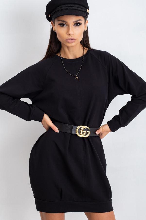 Czarna sukienka bluza Isernia