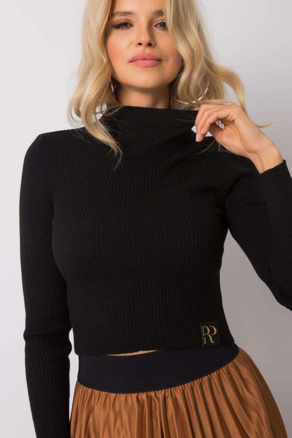 Czarny sweter crop top Ravello