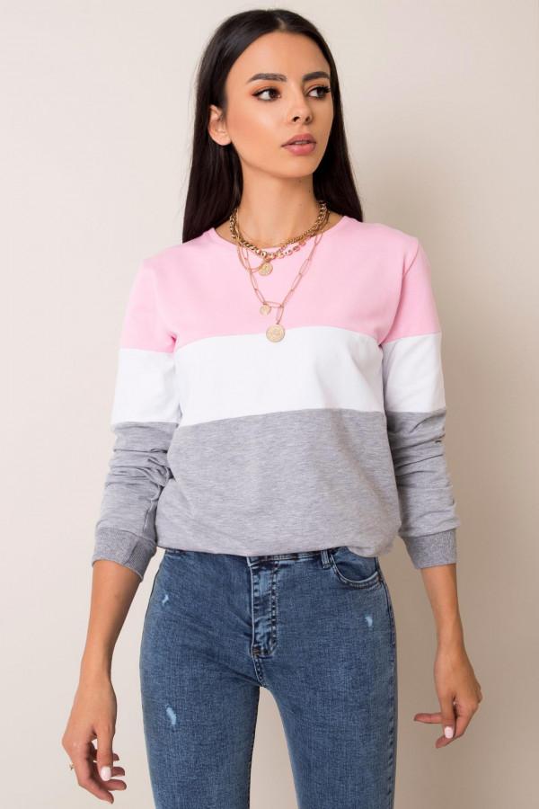 Różowa bluza w paski Saintes