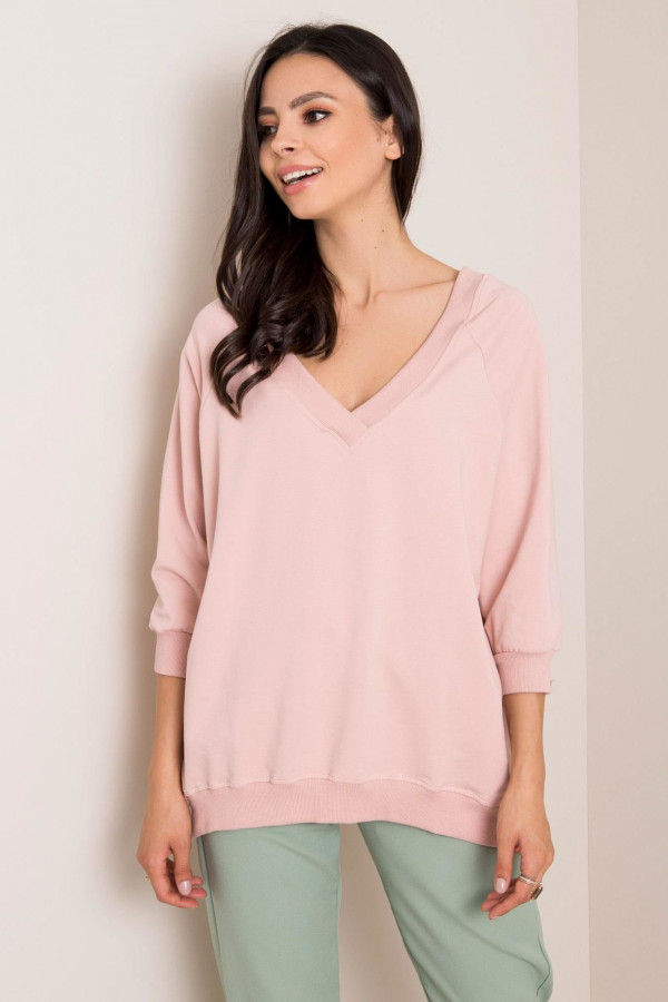Różowa bluza oversize Forbach