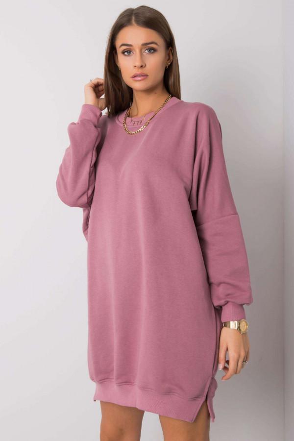 Wrzosowa sukienka bluza oversize Castres