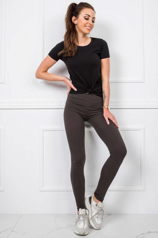 Khaki legginsy fitness Prime