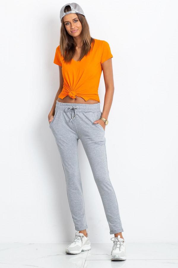 Szare spodnie dresowe z kieszeniami Sage