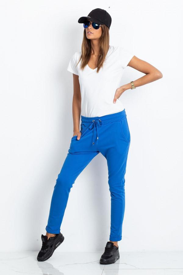 Niebieskie spodnie dresowe z kieszeniami Sage
