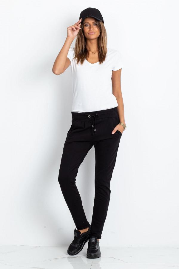 Czarne spodnie dresowe z kieszeniami Sage
