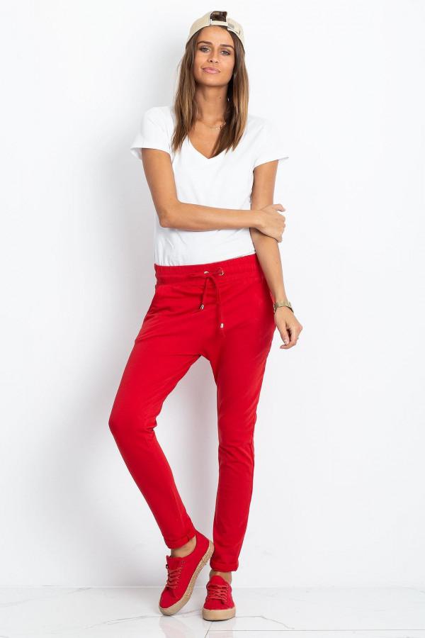 Czerwona spodnie dresowe z kieszeniami Sage