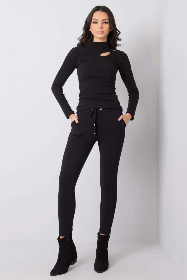 Czarne dopasowane spodnie dresowe Minas