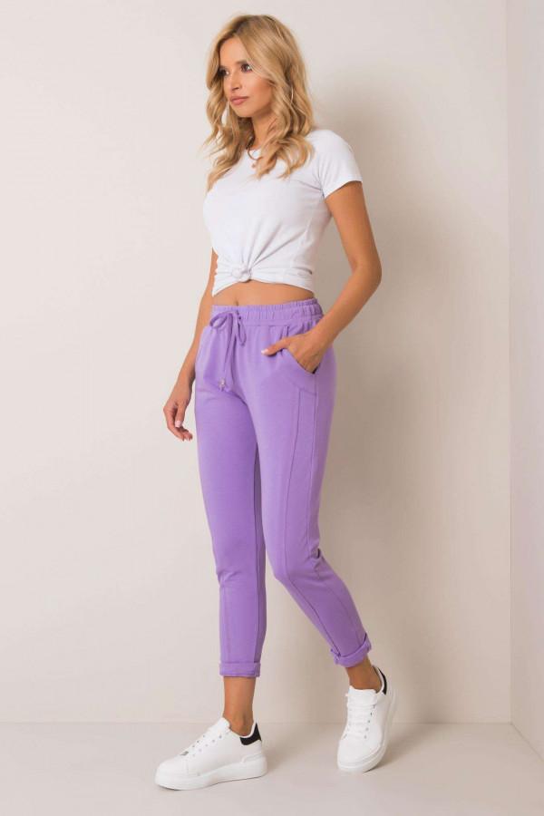 Fioletowe spodnie dresowe z kieszeniami Viole