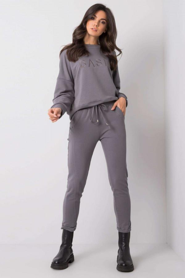 Ciemnoszare spodnie dresowe z kieszeniami Viole