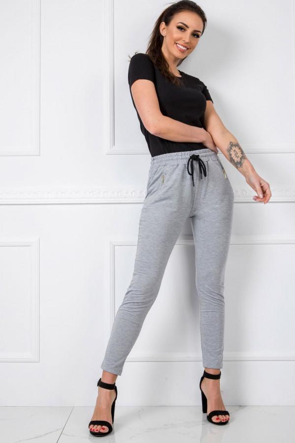 Szare spodnie dresowe z wysokim stanem Primes