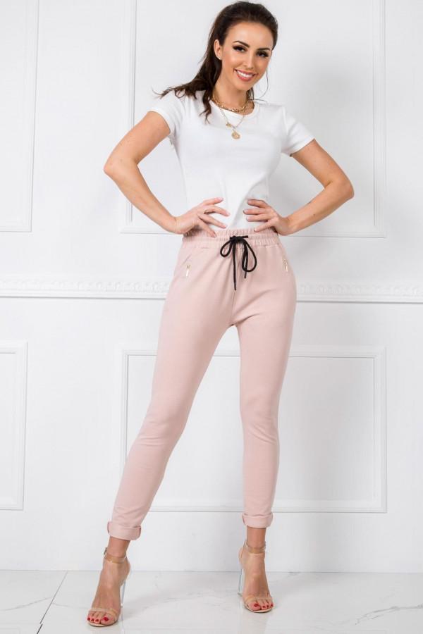 Różowe spodnie dresowe z wysokim stanem Primes