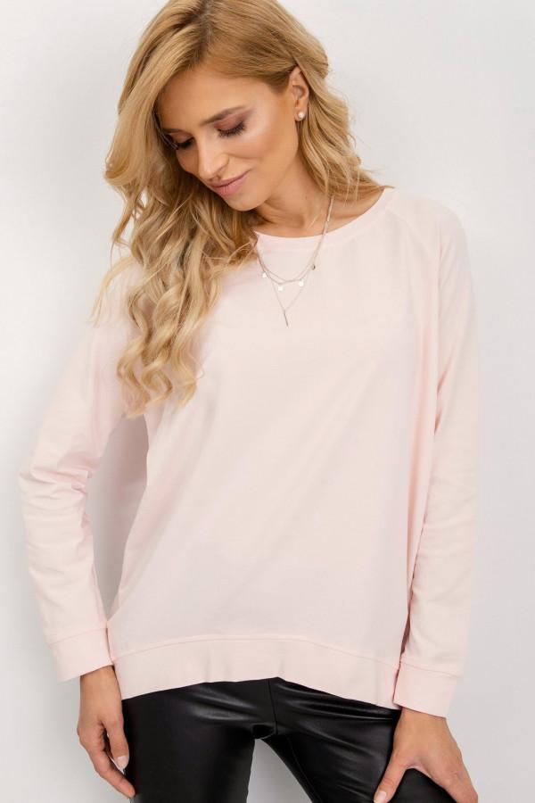 Różowa klasyczna bluza Denma