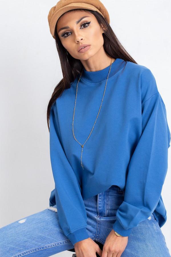 Niebieska bluza z ściągaczami Vicenza