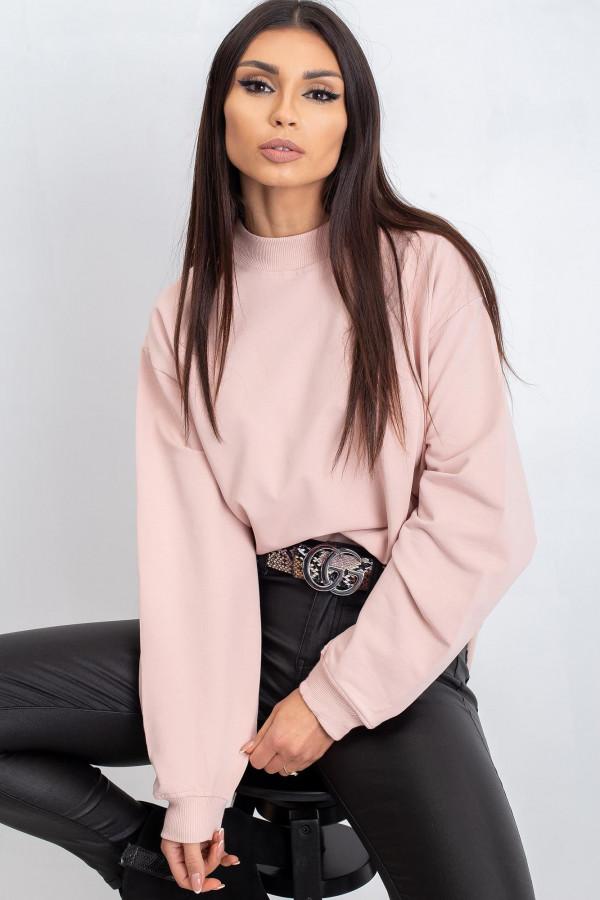 Jasnoróżowa bluza z ściągaczami Vicenza