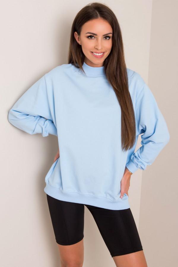 Jasnoniebieska bluza z ściągaczami Vicenza