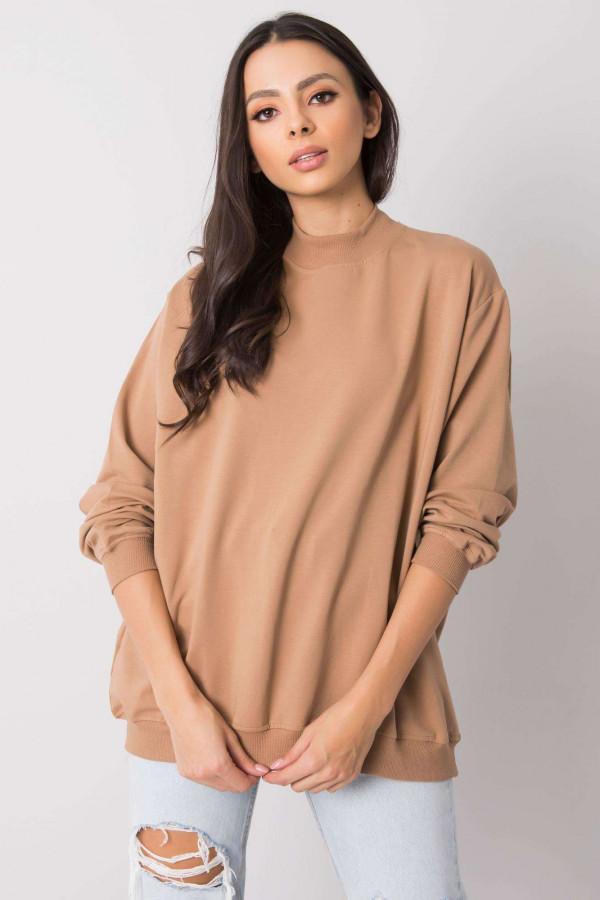 Karmelowa bluza z ściągaczami Vicenza