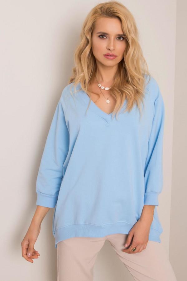 Niebieska bluza z dekoltem V-Neck Lorient