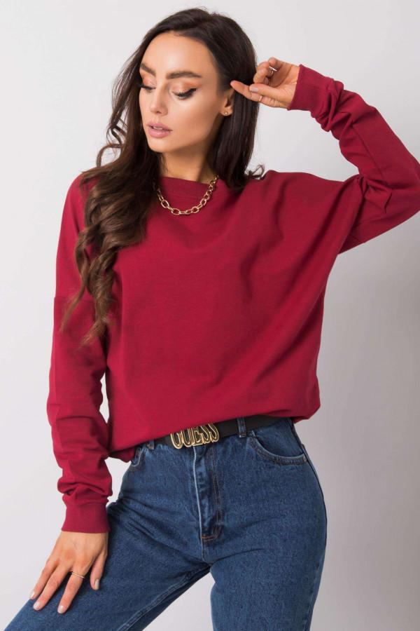 Bordowa bluza z wycięciem na plecach Jame