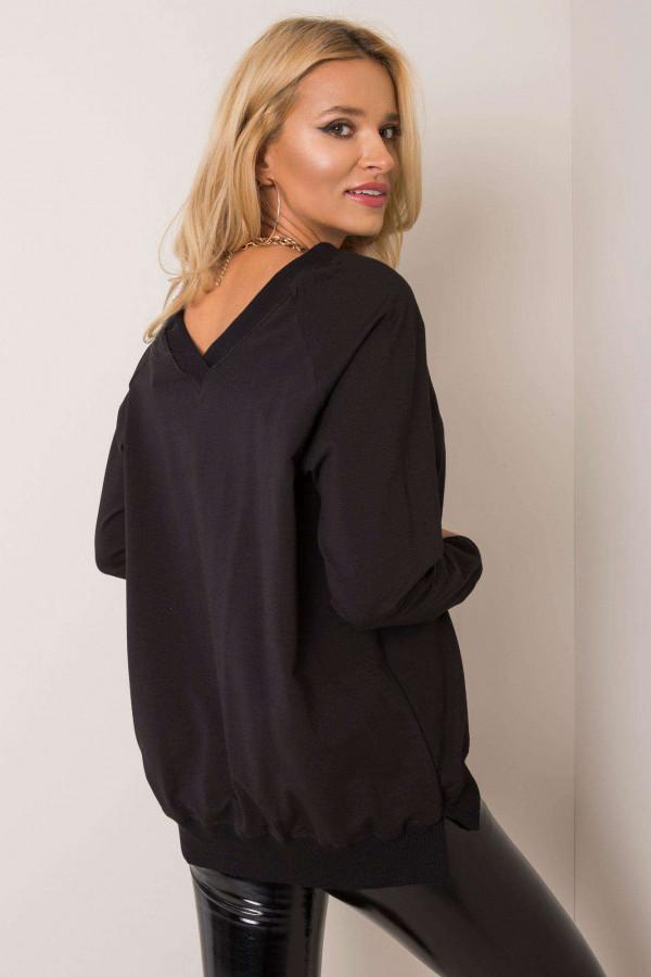 Czarna bluza z wycięciem V na plecach Serafia