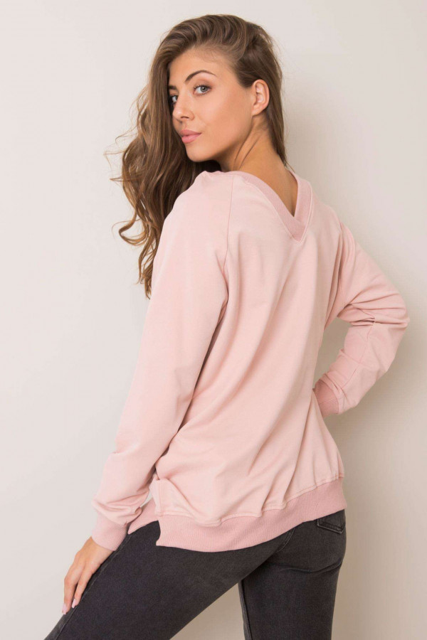 Różowa bluza z wycięciem V na plecach Serafia